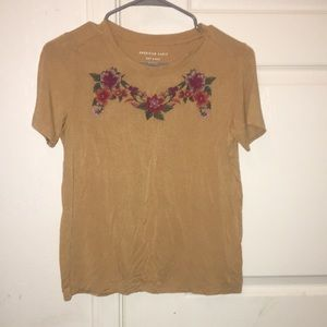 American eagle soft and sexy flower top